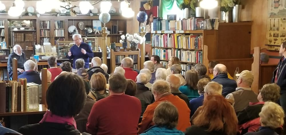 A reading at Zumbroz Variety, Fargo, ND, March 1, 2020. (Photo: Mark Puppe)